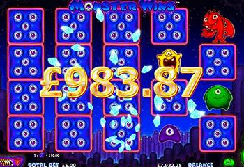 Монстры начинают выигрывать в автомате Monster Wins