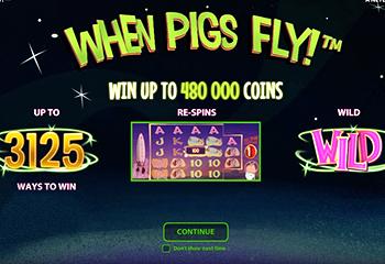 В новом автомате NetEnt свиньи летают